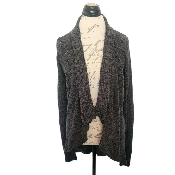 Sonoma Gray Open Knit Duster Front Cardigan